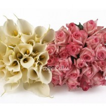 White Callas & Pink Roses