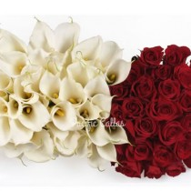 White Callas & Red Roses